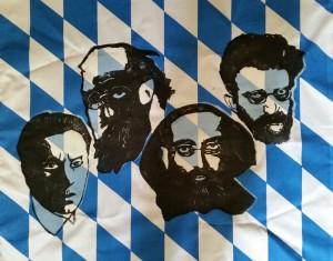 Klicken zum Vergrößern Ernst Toller, Kurt Eisner, Gustav Landauer und Erich Mühsam.