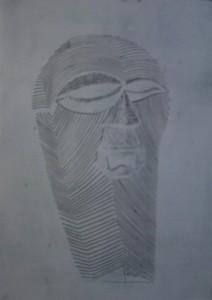 Maske Kifwebe weiss