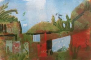MBour Senegal Sieben-Farben-Linolschnitt-Joachim-Graf
