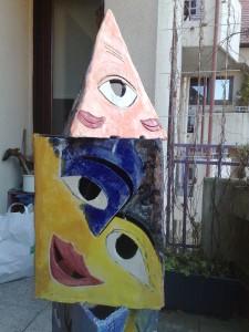 Maske Statue oben