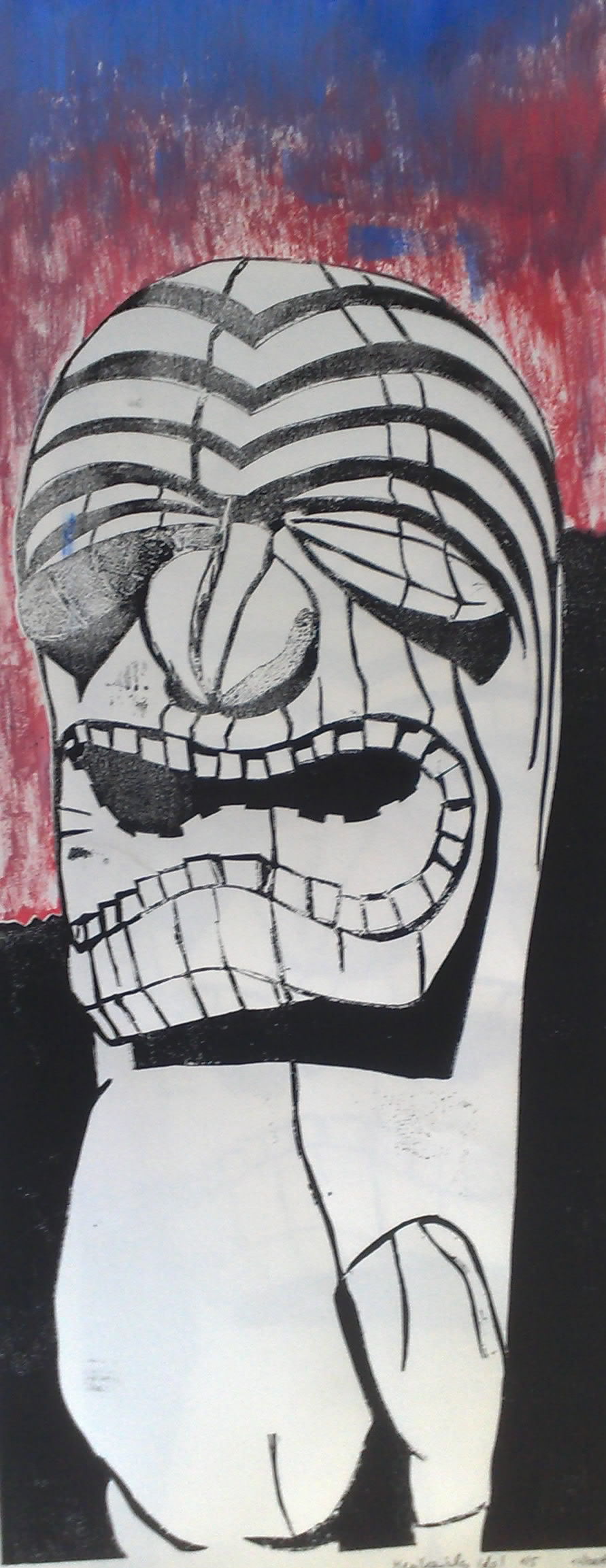Mexikanisches_Idol_Holzstatue_Mexiko001