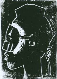 Afrikanerin mit Maske
