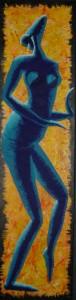 afrikanische Tänzerin (Acryl)