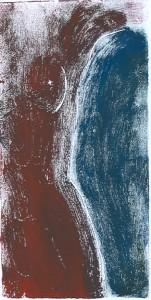 Roter Akt - Linolschnitt