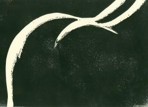 Weibliche Rückansicht - aka: Der Frauenarsch - Linolschnitt297x210
