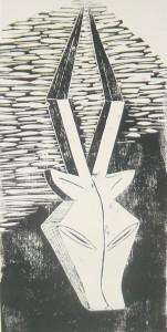 Antilope Linolschnitt
