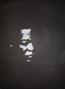 Black man - White man Holzschnitt