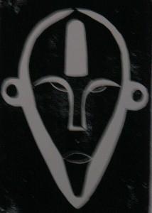 Boa Maske aus Zaire schwarz - Holzschnitt