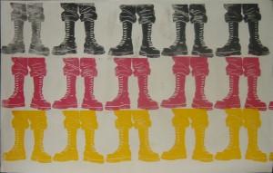 Das typisch Deutsche - Nazzis auf Linolschnitt