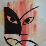 der-clown-Zwei-Farben-Linolschnitt6