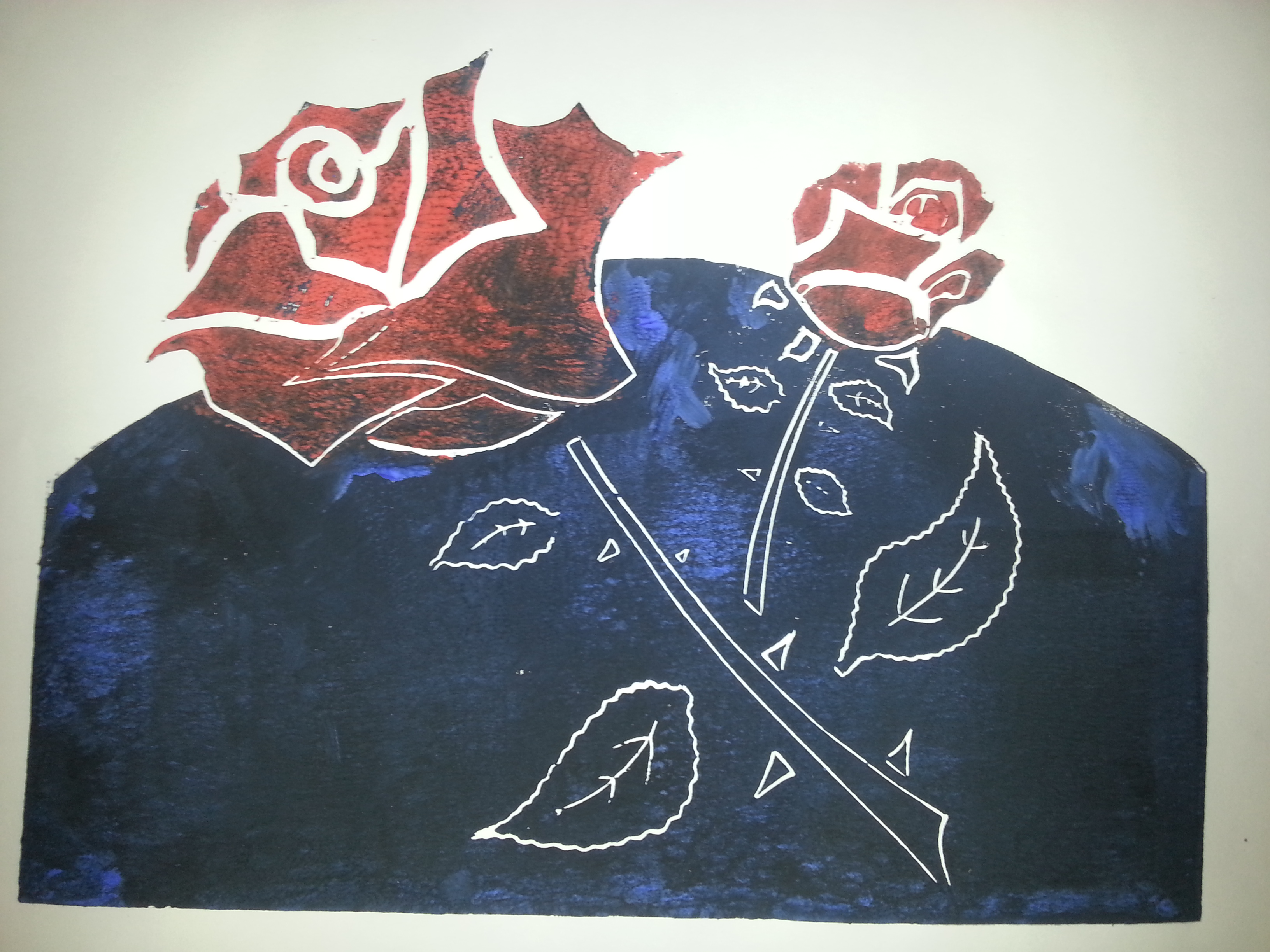 Rosen der Liebe Holzschnitt
