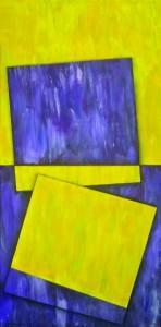 Drei Quadrate und ein Dreieck