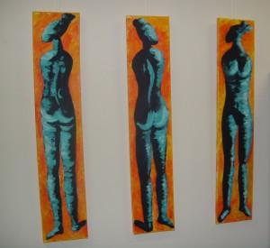 Drei Afrikanerinnen - Acryl auf Leinwand