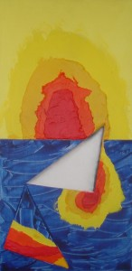 Fallendes Dreieck 80x40 - Acryl