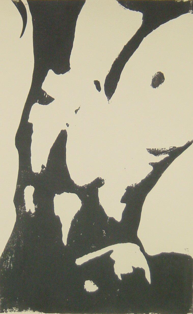 Männerbrust - Holzschnitt