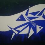 Pesces Fische Holzschnitt
