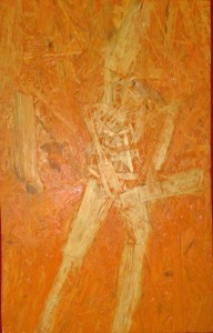 Saxophonspieler - Acryl auf MDF-Platte