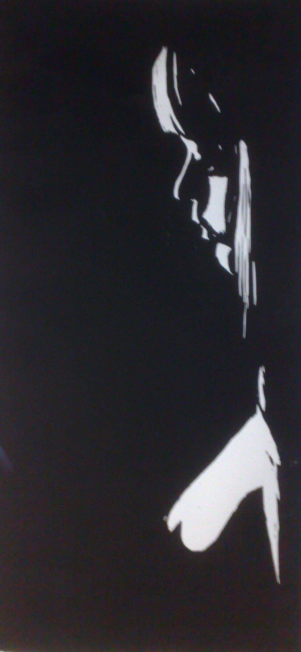 Sehnsucht - Akt schwarz - Holzschnitt