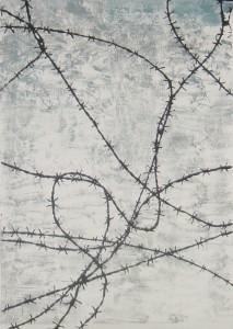 Stacheldraht - Linolschnitt