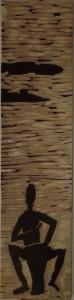 Trommler unter Akazien Holzschnitt-Druckstock