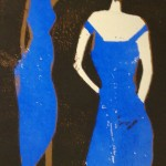 two women blue