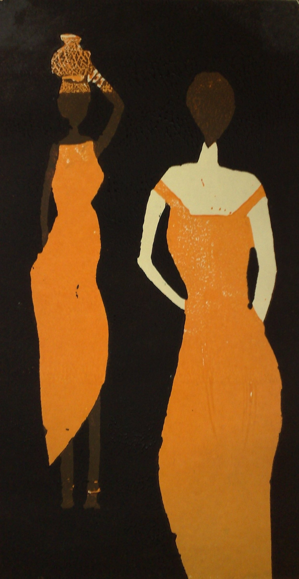 two women orange