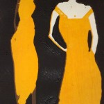 Two women yellow