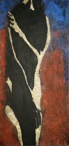 Weiblicher Akt (blau)