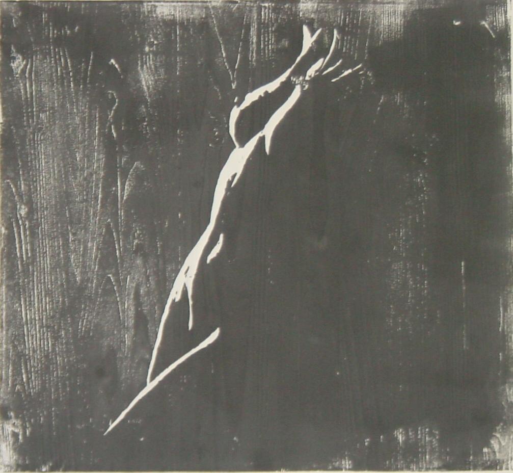 Weiblicher Akt - Holzschnitt