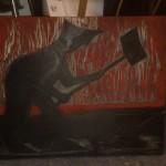 Werkzeug der Arbeit - Holzschnitt-Druckstock