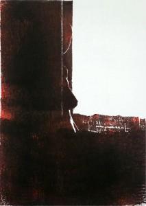 Karin (verborgen) Holzschnitt schwarz