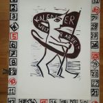 Linolschnitt Kalender Welt der Arbeit