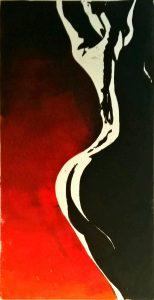 Frauenakt der Zopf (rechts) Irisdruck