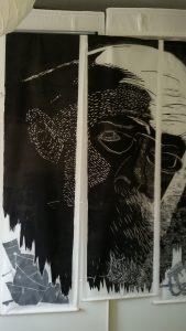 Kurt Eisner und das bayerische Volk, Linolschnitt
