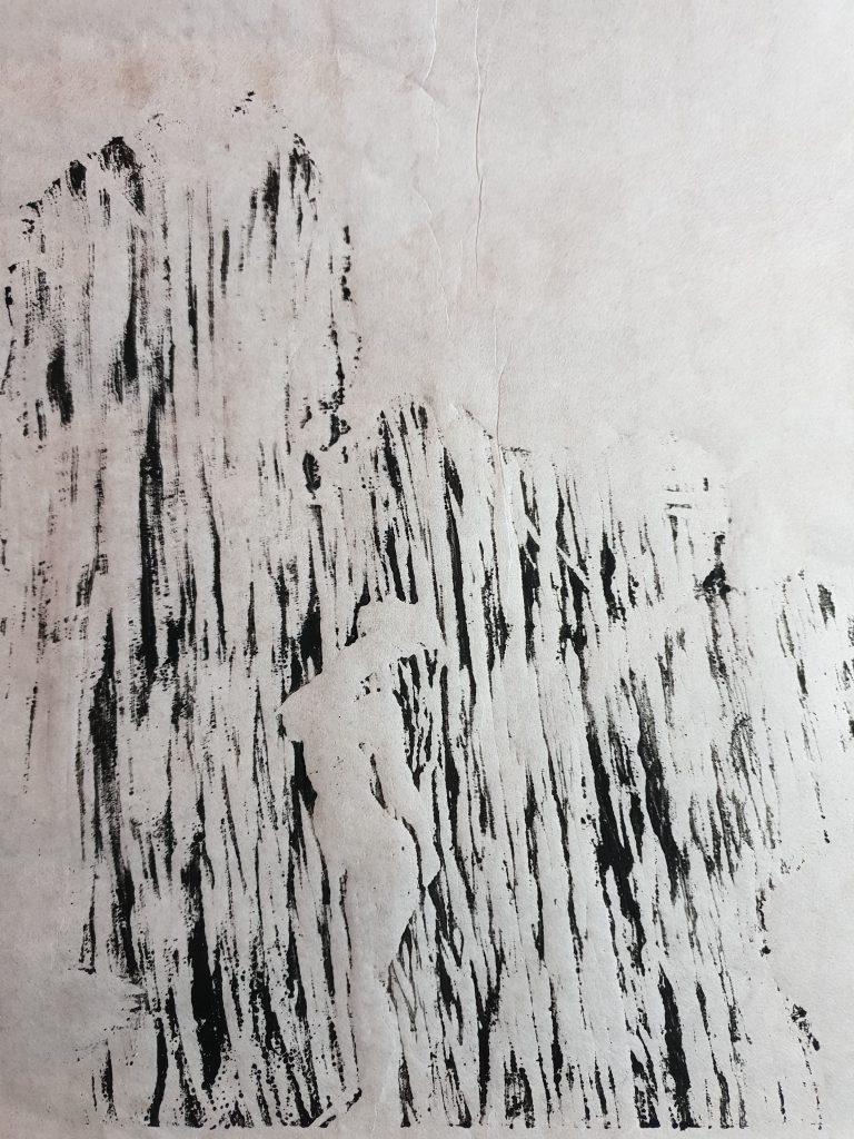 Badende im Wasserfall - Druck - Joachim Graf