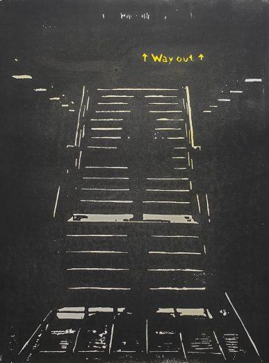 Wayout Holzschnitt Gelb