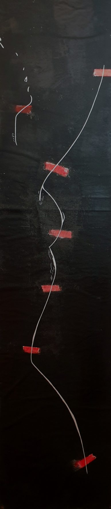 Akt (verwundet) - Linolschnitt